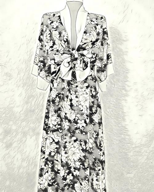 Conjuntos, kimono+falda